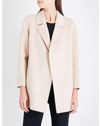 1837360fae Lyst - Theory Clairene Open-front Wool And Cashmere-blend Jacket in Pink