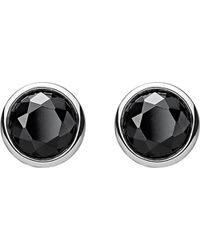 Thomas Sabo | Classic Black Stone Sterling Silver Ear Studs | Lyst