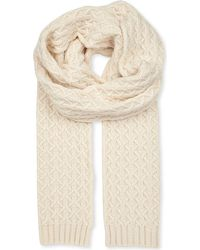 Johnstons - Natural Quilted Cashmere Scarf - Lyst