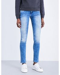 Calvin Klein | Blue Body 2.0 Skinny Mid-rise Jeans | Lyst