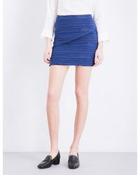 Sandro - Blue Dakota Tweed Skirt - Lyst