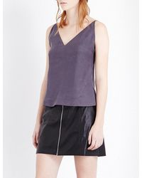 J Brand   Purple Lucy Spaghetti Strap Silk Camisole Top   Lyst