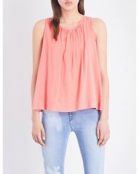 J Brand | Multicolor Isla Cotton-blend Top | Lyst