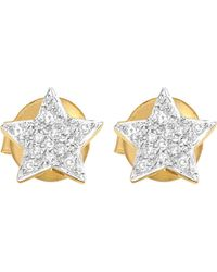 Missoma | Metallic Star 18ct Yellow-gold Vermeil And Diamond Stud Earrings | Lyst