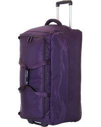 Lipault   Purple Foldable Wheeled Duffel Bag 55cm   Lyst