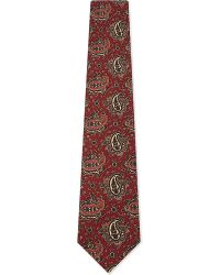 Drake's | Red Mens Paisley Traditional Silk Tie for Men | Lyst
