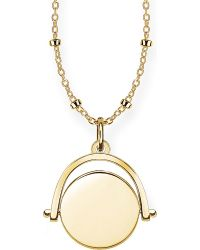 Thomas Sabo - 18ct Yellow Gold Spinning Coin Engravable Necklace - Lyst