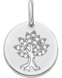 Thomas Sabo | Metallic Tree Of Life Sterling Silver Pendant | Lyst