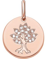 Thomas Sabo | Metallic Tree Of Life 18ct Rose Gold Plated Sterling Silver Pendant | Lyst