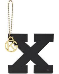 Kurt Geiger - Black Letter X Bag Charm - Lyst