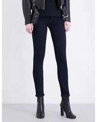 8954e2a2 Lyst - DIESEL Livier Skinny Mid-rise Jeans in Blue