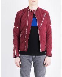 DIESEL - Red L-mackson Suede Jacket for Men - Lyst