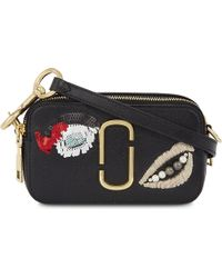 Marc Jacobs | Black Plus Size Vintage Collage Snapshot Leather Bag | Lyst