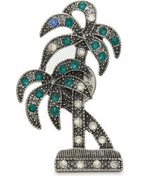 Marc Jacobs | Green Double Palm Badge Pin | Lyst