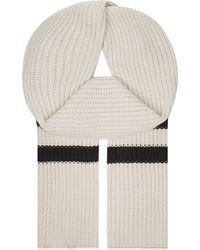 Brunello Cucinelli | Multicolor Chunky Knit Cashmere Scarf | Lyst