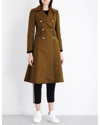 Mo&co. - Multicolor Double-breasted Wool-blend Coat - Lyst