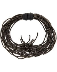 Brunello Cucinelli | Black Beaded Branch Choker Necklace | Lyst