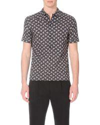 AllSaints - Black Luverne Regular-fit Cotton Shirt for Men - Lyst
