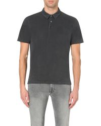 James Perse | Gray Cotton-jersey Polo Shirt for Men | Lyst