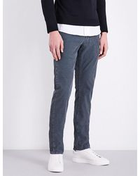 Slowear | Gray Slim-fit Straight Stretch-cotton Corduroy Trousers for Men | Lyst