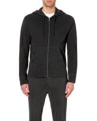James Perse | Black Vintage Cotton-jersey Hoody for Men | Lyst