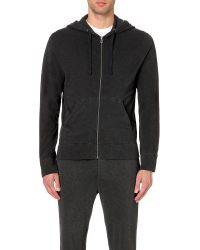 James Perse - Black Vintage Cotton-jersey Hoody for Men - Lyst