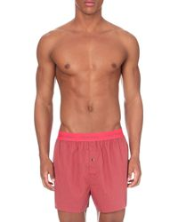 Calvin Klein - Pink Cotton Boxer Shorts Pack-of-two for Men - Lyst