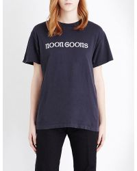 Noon Goons - Black Inside Out Cotton-jersey T-shirt - Lyst