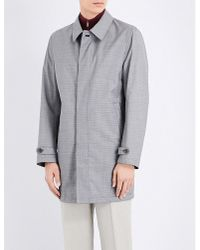 Canali | Gray Reversible Wool And Shell Coat for Men | Lyst
