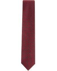 Brioni - Red Petal Pattern Silk Tie for Men - Lyst