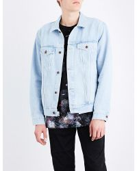 a877fd835770 Lyst - Off-White c o Virgil Abloh Angel Denim Jacket in Blue for Men