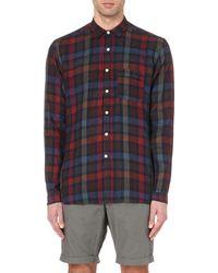 Oliver Spencer - Metallic Wellington Checked Linen Shirt for Men - Lyst