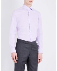 Corneliani | Pink Checked Cotton Shirt for Men | Lyst