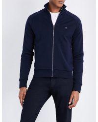 Ralph Lauren Purple Label | Blue Logo-detail Cotton-jersey Track Jacket for Men | Lyst