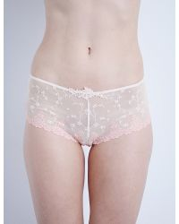 Passionata - Pink White Nights Mesh Shorty Briefs - Lyst