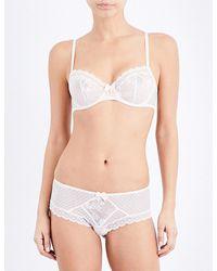 Passionata - White Adorable Lace Half-cup Bra - Lyst