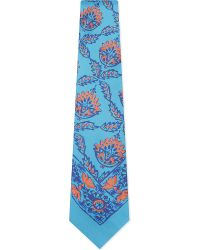 Ralph Lauren Purple Label | Blue Micros Floral Silk Tie for Men | Lyst