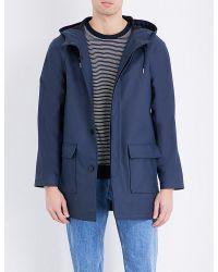 A.P.C. | Blue Manteau Rubber Coat for Men | Lyst