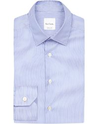 Paul Smith | Blue Regular-fit Cotton Shirt for Men | Lyst