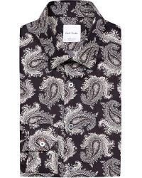 Paul Smith | Brown Slim-fit Floral-print Cotton Shirt for Men | Lyst