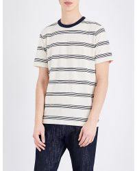 PS by Paul Smith | Blue Striped Cotton-jersey T-shirt for Men | Lyst