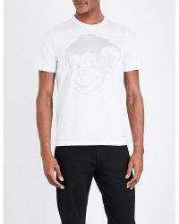 PS by Paul Smith | White Monkey-print Cotton-jersey T-shirt for Men | Lyst
