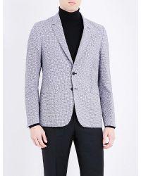 Paul Smith | Blue Geometric-print Seersucker Jacket for Men | Lyst