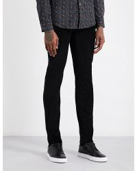 PS by Paul Smith | Black Slim-fit Skinny Corduroy Stretch-cotton Jeans for Men | Lyst