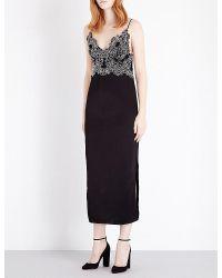 Sandro | Black Demi Lace Dress | Lyst
