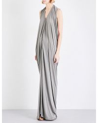 Rick Owens | Multicolor Draped Silk-jersey Gown | Lyst