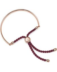 Monica Vinader - Metallic Fiji 18ct Rose Gold-plated Friendship Bracelet - Lyst