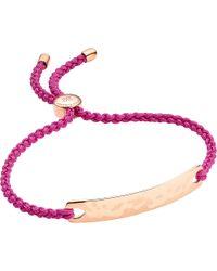 Monica Vinader - Purple Fiji 18ct Gold-plated Friendship Bracelet - Lyst