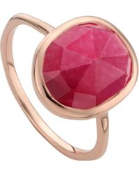 Monica Vinader | Metallic Siren 18ct Rose Gold-plated Stacking Ring | Lyst