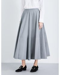 MM6 by Maison Martin Margiela | Gray Faux-leather Skirt | Lyst